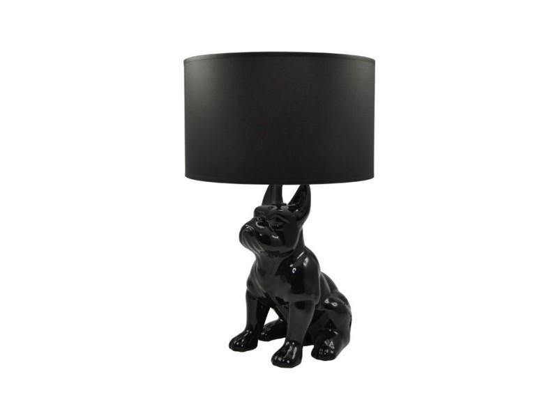 Lampe Bouledogue Chien Noir Doggy Vente De Versa Conforama