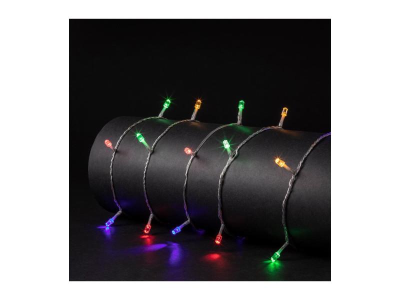 Feeric christmas - guirlande lumineuse intérieure et extérieure 25 m 250 led diamant multicolore et 8 jeux de lumière