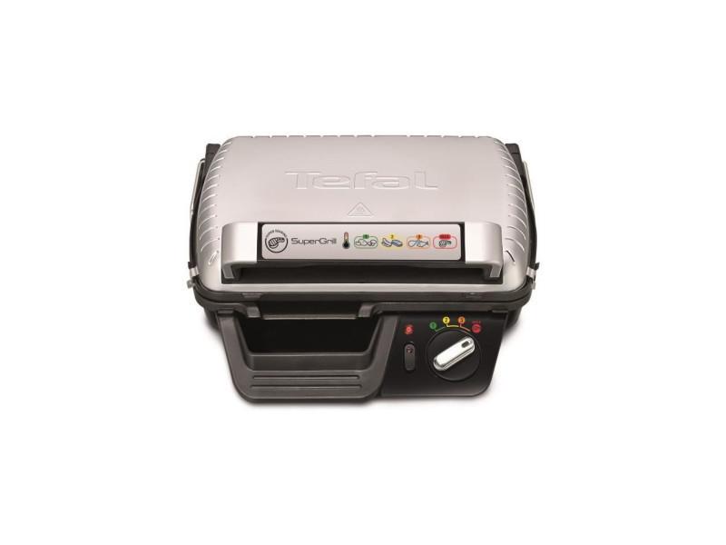 Tefal gc 450 b 32 - grill - puissance 2000 w - 2 positions gril et barbecue - thermostat ajustable - plaques et bac collecteur