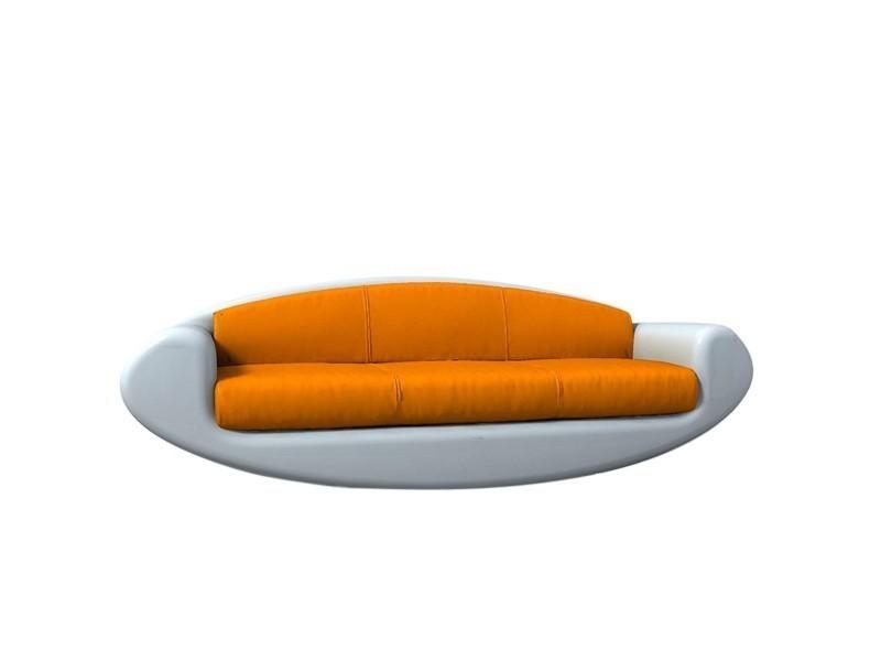 Canape En Cuir Orange Loval Vente De Thomas De Lussac Conforama