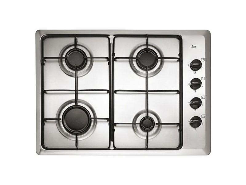 Plaque au gaz à 4 feux faite en acier inoxydable - plaque de cuisson 60 cm
