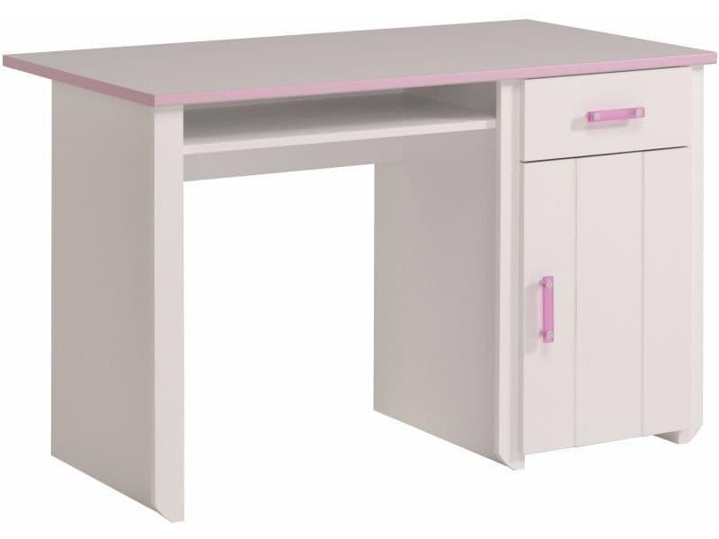 Bureau Blanc Pour Fille : Bureau pour fille coloris blanc et rose vente de comforium