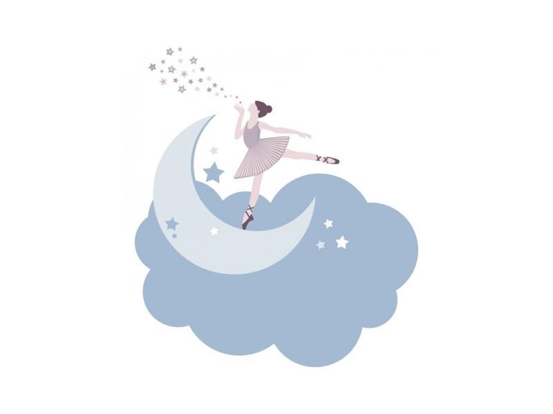 Stickers danse : danseuse sur son nuage - format : 37 x 42 cm