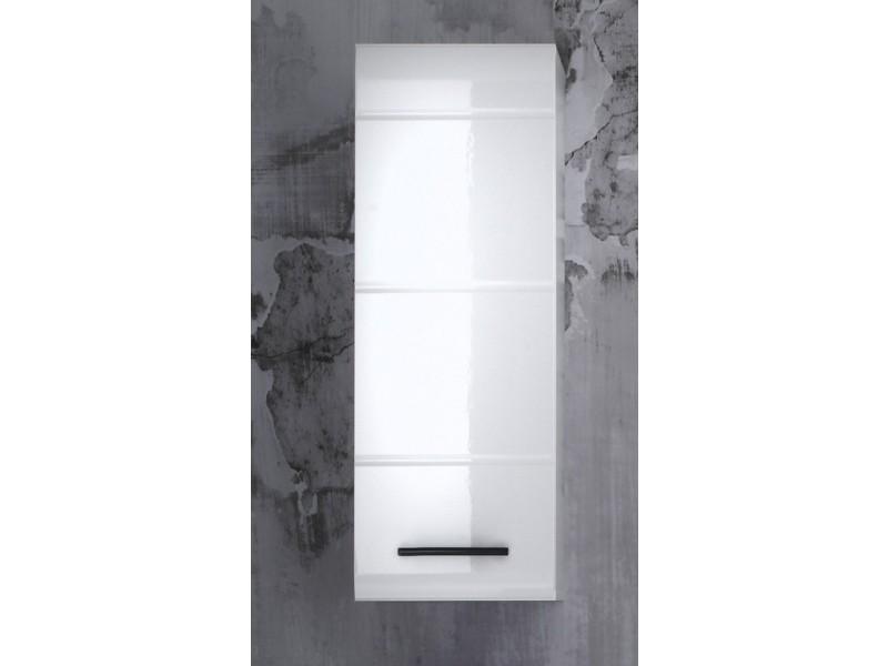 Skin placard murale de salle de bain blanc ultrabrillant lxhxp 30x77x23 cm vente de meuble et Placard de salle de bain