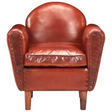 Icaverne fauteuils ensemble fauteuil tube marron 77x65x79