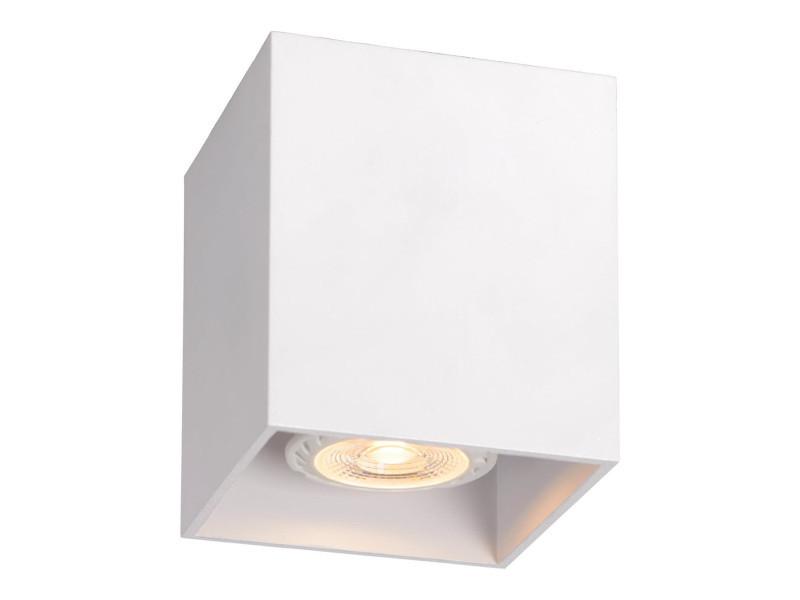 Plafonnier design cubique blanc malicia lp vente de