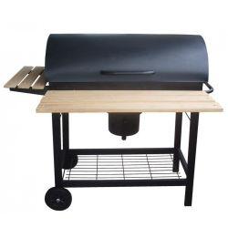 Le caloundra : barbecue roulette couvercle bois ou au charbon