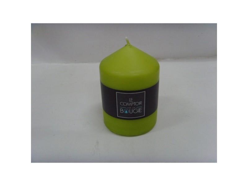 Bougie ronde - h. 10 cm - vert