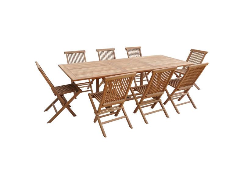 Salon de jardin en teck lombok - table rectangulaire ...
