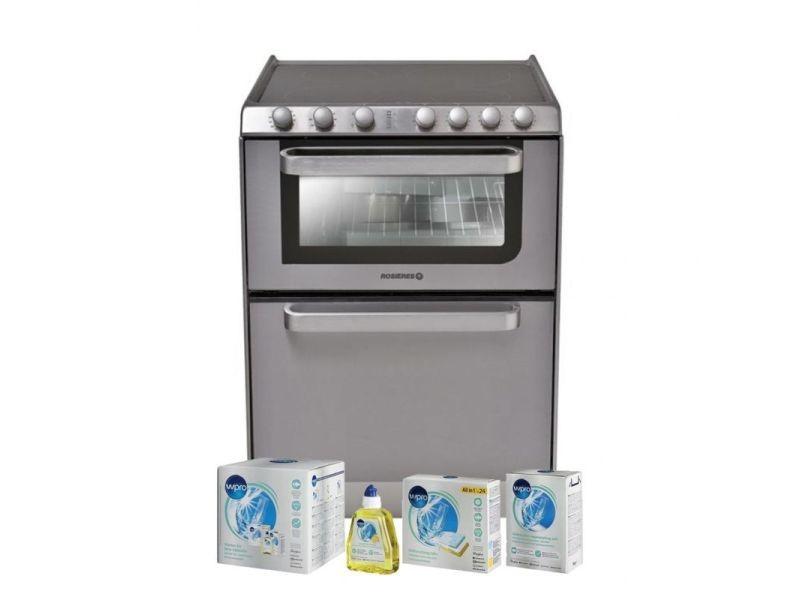 Lave-vaisselle posable inox 6 couverts combiné four table de cuisson