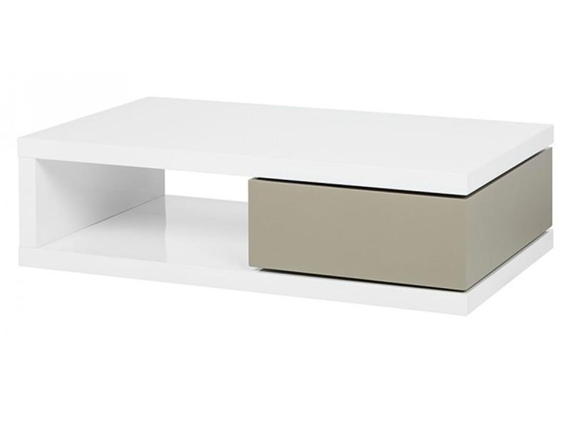 Table basse laqué oraz - blanc - blanc