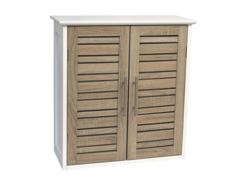 meuble haut salle de bain stockholm en bois ch ne vieilli. Black Bedroom Furniture Sets. Home Design Ideas