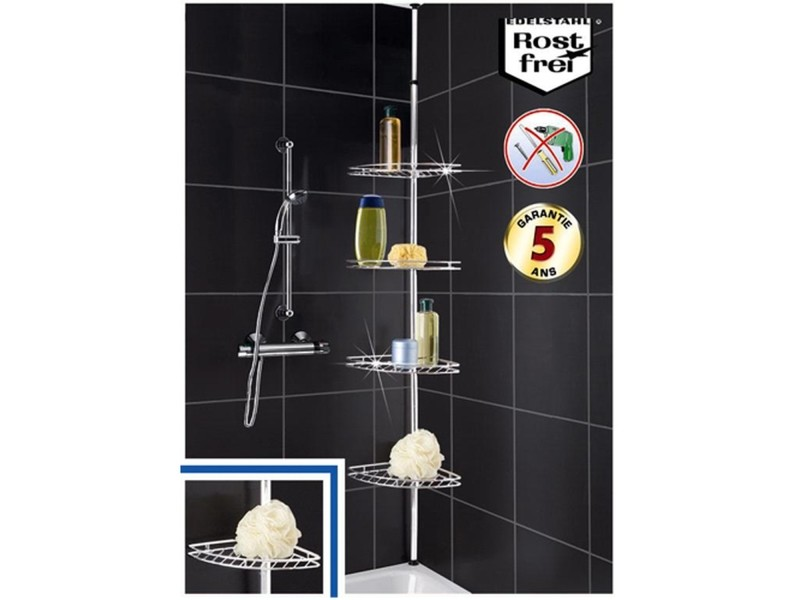 etag re t l scopique en inox angle de salle de bain vente de sans marque conforama. Black Bedroom Furniture Sets. Home Design Ideas