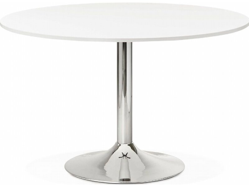 table ronde bois blanc radon ot00300wh vente de table conforama. Black Bedroom Furniture Sets. Home Design Ideas