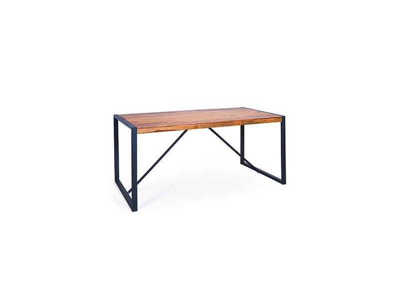 Table à manger en bois massif et métal - atelier metal ...