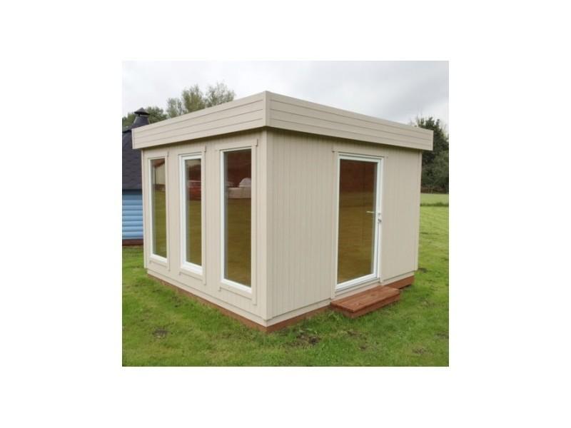 Bureau de jardin de 10 79m en bois massif 19mm cube for Bureau de jardin en bois