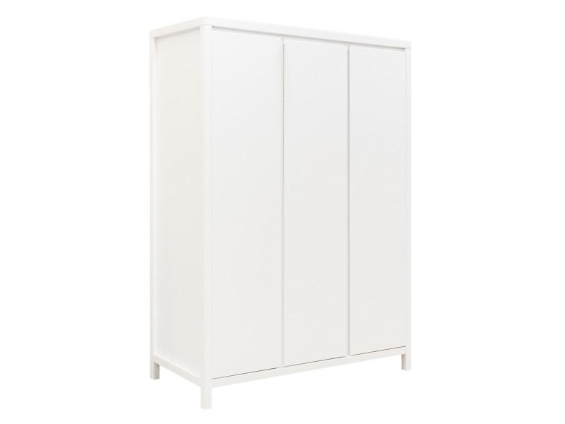 Armoire 3 portes corsica - blanc