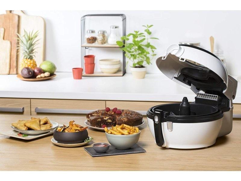Friteuse électrique actifry 1,2l de 1,2kg 1350w noir blanc