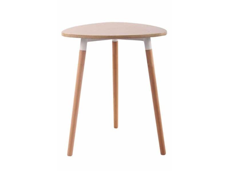 Table De Cuisine Table D Appoint En Bois Couleur Nature Hauteur 75