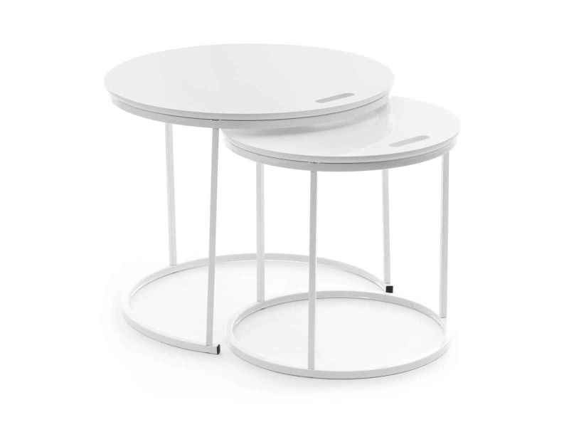 Set De 2 Tables Gigognes Scandinaves Pinta Blanches Vente De