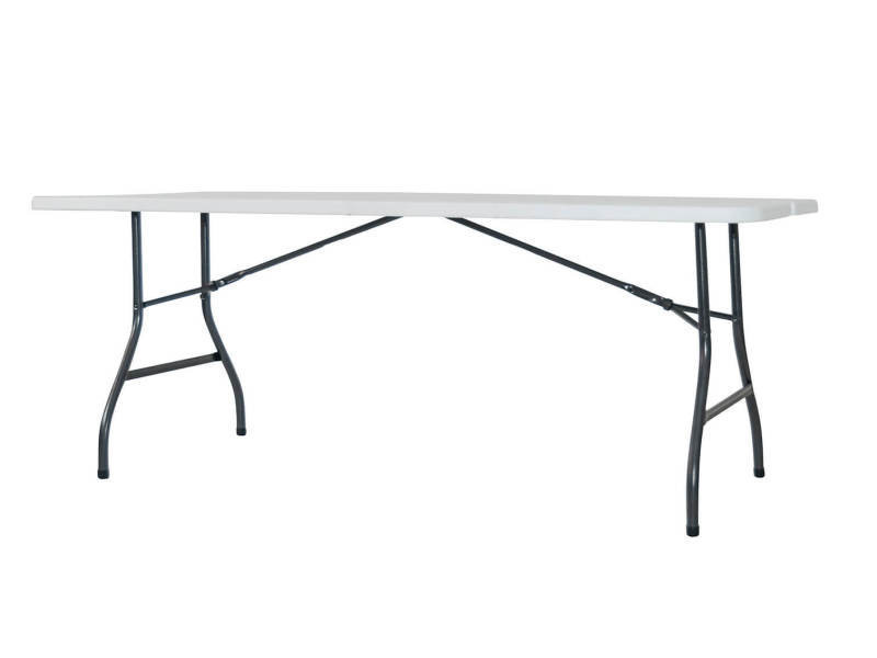 Table en résine avec structure en acier pliante type valise ...