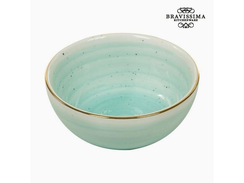 Bol fait en porcelaine turquoise - bol design petit déjeuné