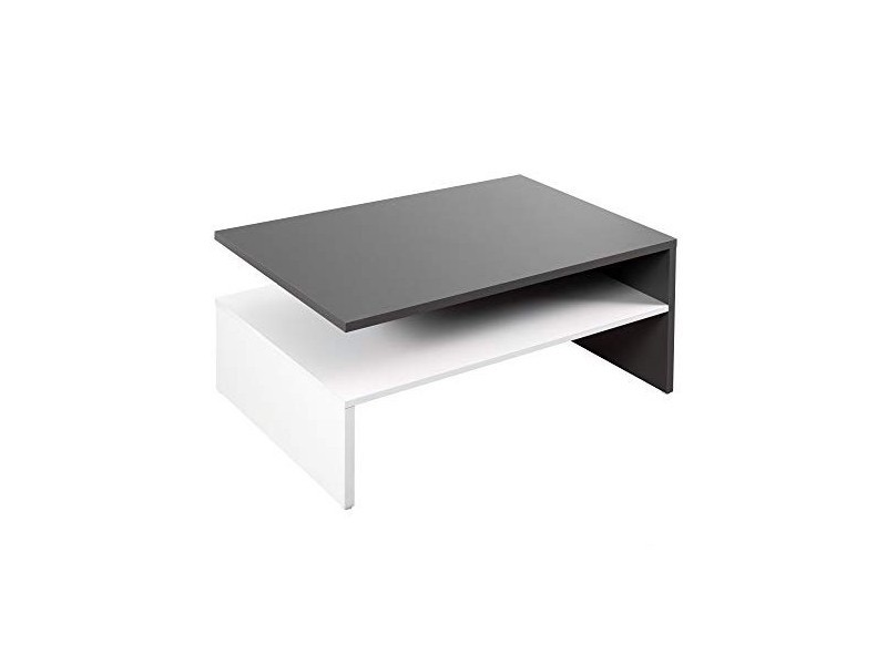 Table basse anthracite blanc 90 cm