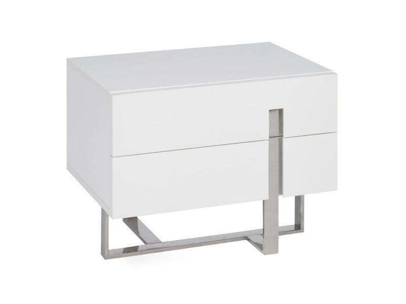Paris prix - table de chevet 2 tiroirs \