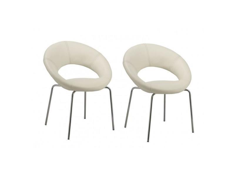 Lot de chaises de salon salle à manger simili multi usage lounge