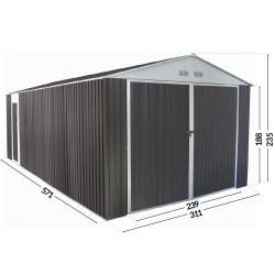 Garage metal nevada avec porte battante - 18,56 m²