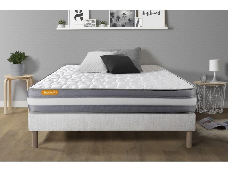 matelas sommier 140x200 green m moire de forme 3 zones vente de sept nuit conforama. Black Bedroom Furniture Sets. Home Design Ideas