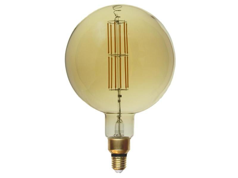 Ampoule e27 led filament dimmable 8w g200 globe xl - blanc chaud 2300k - 3500k