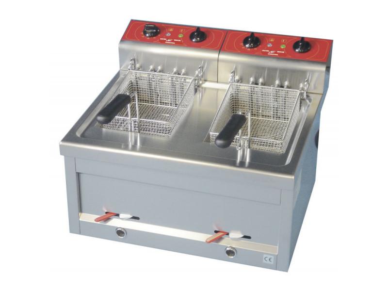 Friteuse électrique de comptoir en monophasé - 2 x 9 litres