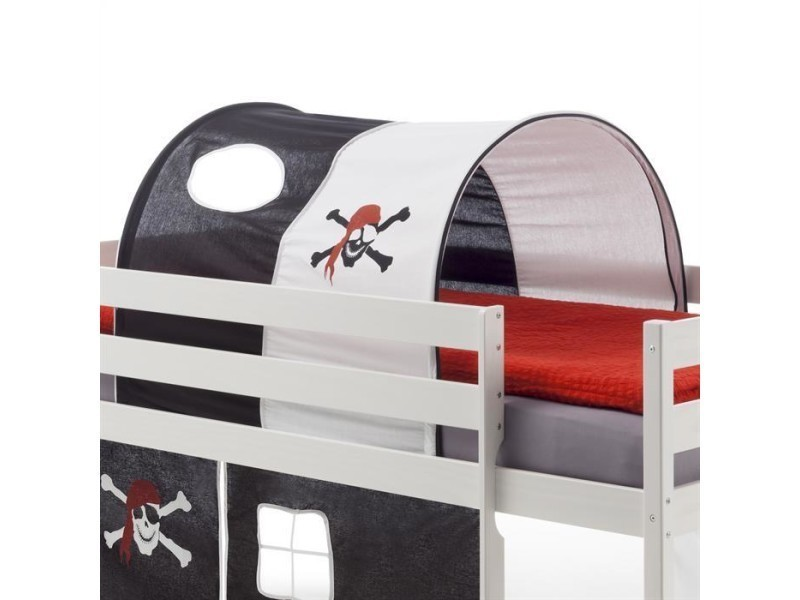 tunnel tente cabane pour lit sur lev coton motif pirate. Black Bedroom Furniture Sets. Home Design Ideas