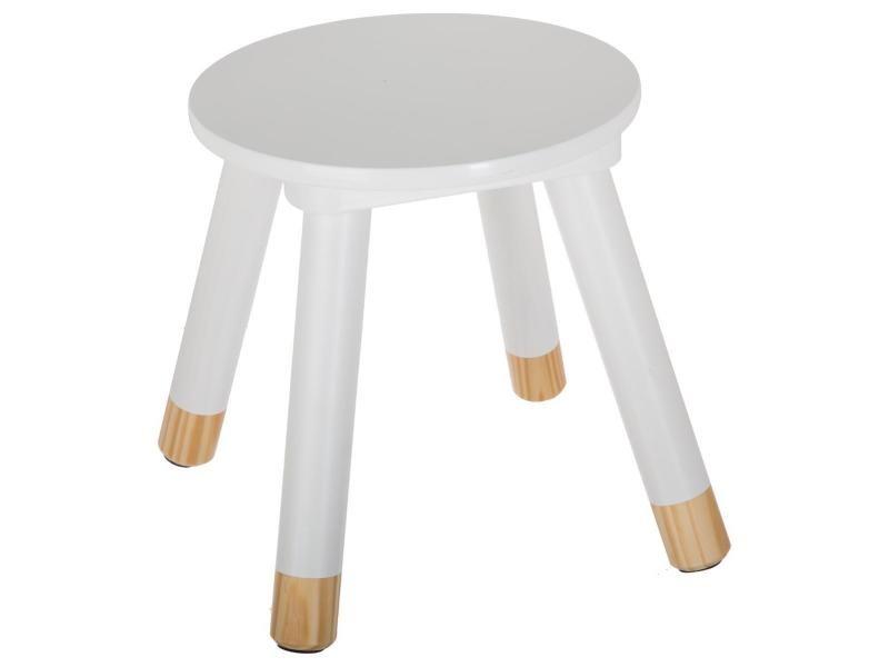 tabouret douceur blanc pour enfant en bois vente de atmosphera conforama. Black Bedroom Furniture Sets. Home Design Ideas