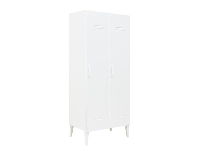 Armoire 2 portes locker blanc