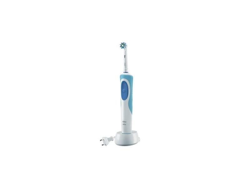 Oral-b brosse a dents electrique pour adultes vitality crossaction - blanc/bleu