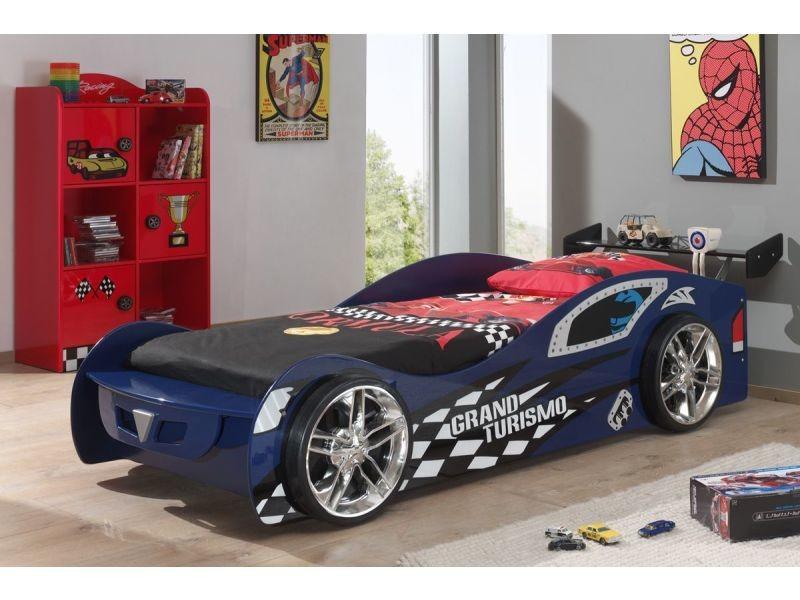 Ensemble 2 pièces pour chambre enfant avec lit voiture 90x200 cm et ...