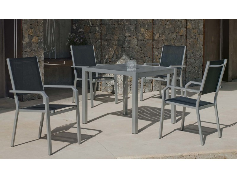 Salon de jardin en aluminium 4 places sarana - Vente de ...