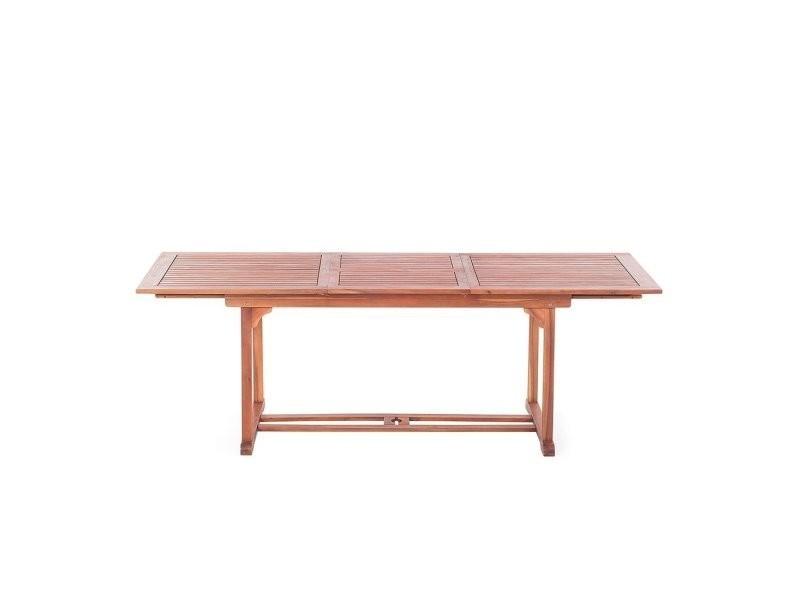 Table de jardin en bois avec rallonges toscana 2644