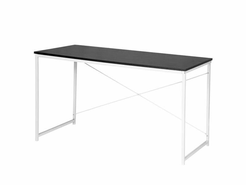 Bureau adulte d'ordinateur design élégant 120 cm noir helloshop26 19_0000562