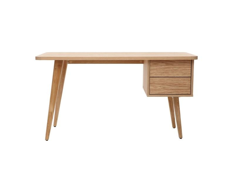 Bureau design chêne l140 cm fifties