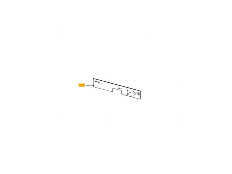 Facade tableau de commande symbole blanc pour lave vaisselle miele - 7156210