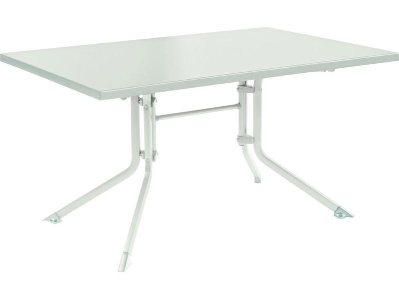 Table de jardin pliante en aluminium coloris blanc/blanc ...