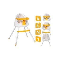 Tutti chaise haute bébé multi-positions 4en1       jaune