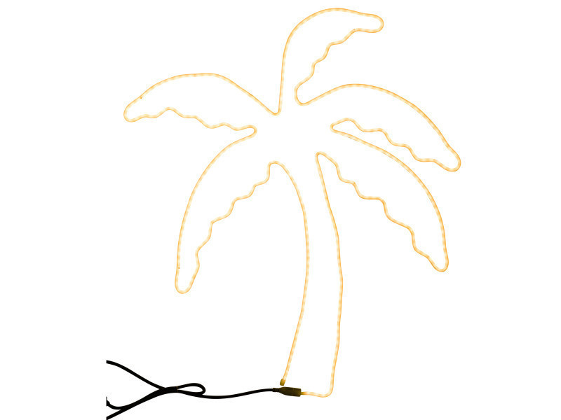 Mobilier de jardin et aménagement extérieur palmier lumineux à led pour décoration extérieure. Le pa