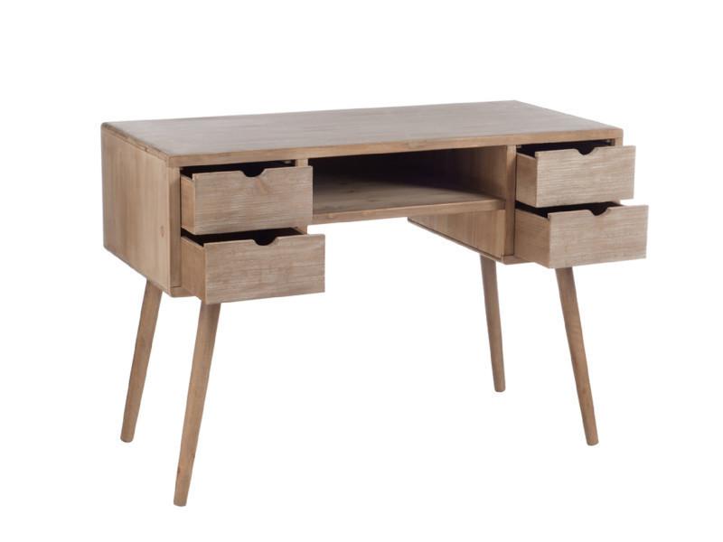 Bureau moderne bois naturel slivan vente de hellin conforama