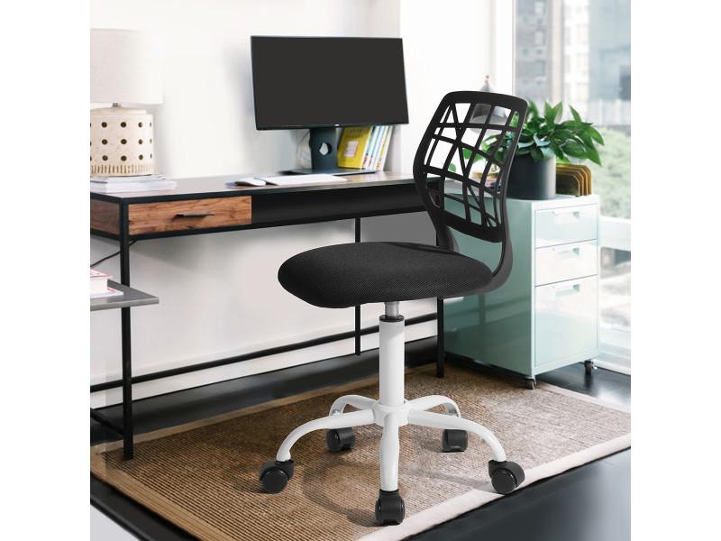 Chaise de bureau enfant tissu noir