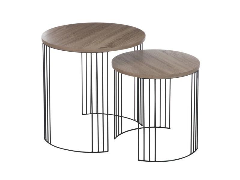 tables gigognes rondes fidji l 55 x l 55 x h 55 neuf vente de tousmesmeubles conforama. Black Bedroom Furniture Sets. Home Design Ideas