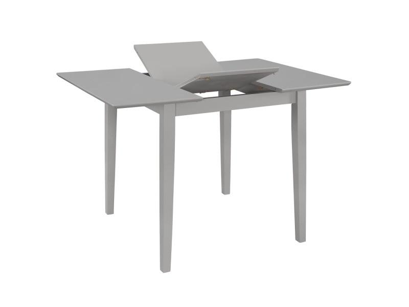 Vidaxl table à dîner extensible gris (80-120) x 80 x 74 cm mdf 247627